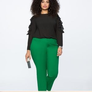 Kady fit green fit pants by Eloquii.